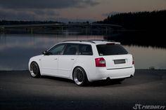 Audi A4 b6 avant wrapped matte white by http://shop.eteippi.fi/