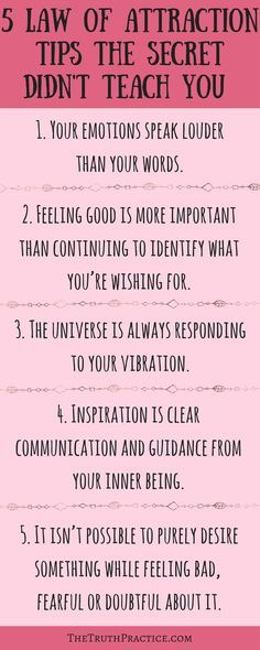 Surprising Laws of Attraction Tips