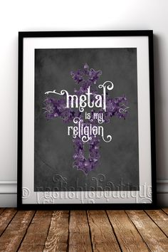 When metal music is life, you need this print! #RockChicBoutique #HeavyMetal #MetalMusic #Gothic #AlternativeHomeDecor #WallArt