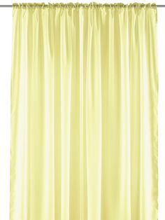 "Pastel Sheer Curtain Panel - Elegant Window Long Panel, Beautiful See Through Drapery Panel, Home Décor Window Curtain with Hanging Rod Pocket - 55"" x 84"" - Yellow - Single Panel"
