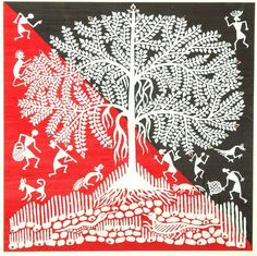 Warli painting, the tree of life