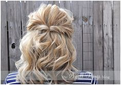 Half-up twist hairstyle | Kenra Professional Hairstyle Inspiration.