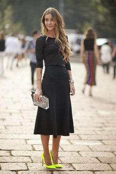 Saia midi ( midi Skirt) como usar http://horadediva.blogspot.com.br/2014/04/saia-midi-como-usar-essa-super-tendencia.html
