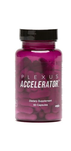 Plexus Accelerator+   Want to turn up the heat?*   Plexus Accelerator++ helps boost the body's metabolic rate and burn fat more efficiently with a number of active ingredients such as Higenamine and Green Tea Extract. *