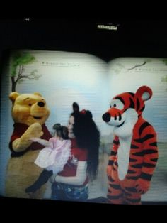Seein winnie the pooh and tiger