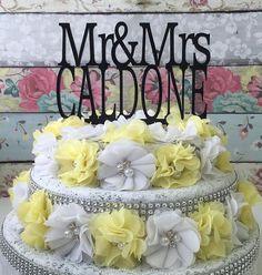 HUGE SALE Custom Wedding Cake Topper  Cake by HangerDesignCenter