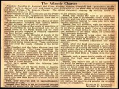 The Atlantic Charter was a pivotal policy statement first issued August 1941 defined the Allied goals for the post-war world. The Charter stated the ideal goals of the war & set goals for the postwar world. It inspired many of the international governments that shaped the world. The Axis powers interpreted these diplomatic agreements as a potential alliance against them.