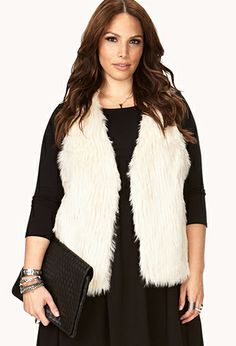 Glam Embellished Faux Fur Vest | FOREVER21: wish I could find a navy or black one of these...