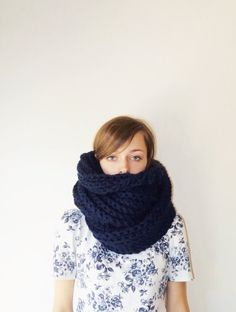 The Patagonian Giant Chunky Knit Scarf Wool by TheMadRabbitShoppe