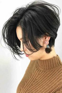 Center Parting Straight Short Bob Lace Front Human Hair Wig - Coiffure Sites Tomboy Hairstyles, Cool Short Hairstyles, Wig Hairstyles, Black Hairstyles, Hairstyles 2016, Latest Hairstyles, Shot Hair Styles, Curly Hair Styles, Natural Hair Styles