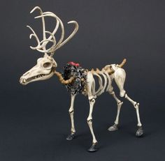 Full-scale reindeer from The Nightmare Before Christmas : Lot 1025 Christmas Maze, Christmas Gingerbread House, Dark Christmas, Nordic Christmas, Christmas Tables, Modern Christmas, Christmas Decorations, Halloween Village, Halloween House