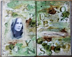 journal pages by Chabrowa using #words #stamp from 3rd Eye <3 http://3rdEyeCraft.com #stamping #stamps #artjournal
