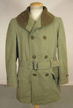 VINTAGE WW2 US ARMY COTTON WOOL MACKINAW JEEP COAT SIZE 40 CLEAN ORIGINAL