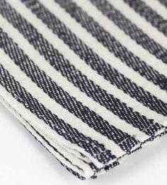 Heavy Linen Dish Towel - Navy Stripes - Brook Farm General Store