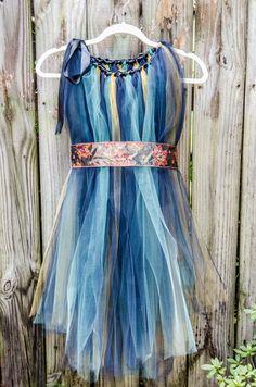 Woodland Fairy TuTu Dress Costume Flower by RhiannaKellyDesigns