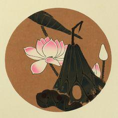 伊藤若冲『蓮花(はす)』-「花卉図天井画」