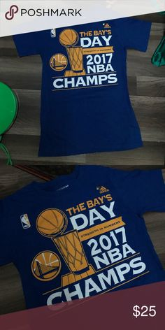 Warriors champions tee Size small Never used NBA adidas Golden state  warriors Championship tee Same day shipping adidas Shirts Tees - Short  Sleeve 634a98b5b