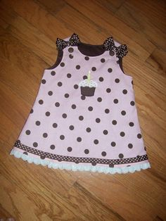 PInk and Brown Polka Dot Birthday dress with by kandybarnett, $35.00  OMG! This is PERFECT!