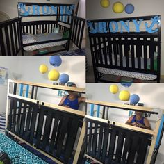 Make a bunk bed from your crib Baby Bedroom, Girls Bedroom, Bedrooms, Toddler Bed Transition, Toddler Bunk Beds, Baby Jail, Baby Furniture, House On Wheels, Cribs