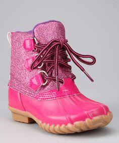 Cute Little Girl Rain Boots