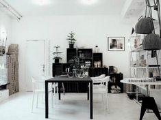Swedish black and white interior.