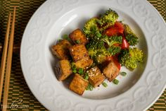Orange-Ginger Roasted Tofu