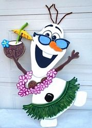 Hawaiian Olaf _lawn ornament for anytime of year!!