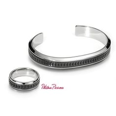 Dad deserves a gift that's as handsome as he is. Paloma's Caliper cuff and ring in stainless steel and titanium.