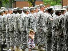 4 year-old Paige Bennethum really, really didn't want her daddy to go to Iraq. So much that when Army Reservist Staff Sgt. Brett Bennethum lined up in formation at his deployment this July, she couldn't let go. No one had the heart to pull her away.