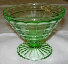 Block Optic Cone Sherbet Dish