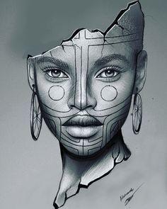 Tattoo Lettering Design, Tattoo Designs, Chicano Tattoos Sleeve, Chicanas Tattoo, Dot Tattoos, Nordic Art, Grey Art, Afro Art, Tattoo Models