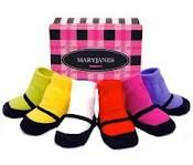 Baby socks that look like Mary Janes :)