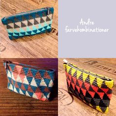 Crochet Case, Crochet Clutch, Crochet Handbags, Crochet Purses, Diy Crochet, Tunisian Crochet, Learn To Crochet, Sewing Patterns Free, Crochet Patterns