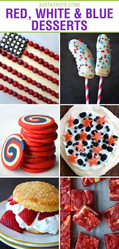Red, White and Blue Dessert Recipes on justataste.com