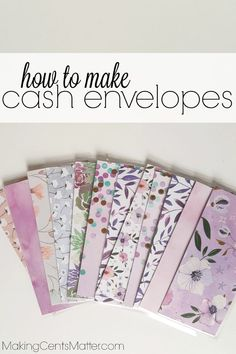 How to Use the Cash Envelope System (and why you should!)How to use Dave Ramsey's cash envelope system to stick to your budget and control your spending. By starting with my free printable budget, you Budget Envelopes, Money Envelopes, Mailing Envelopes, How To Make Envelopes, How To Make An Envelope, Paper Envelopes, Cash Envelope System, Diy Envelope, Envelope Budget System