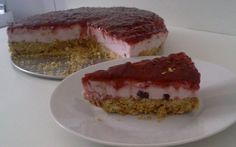 Retete Culinare - Tarta cu iaurt de fructe (fara coacere) Cheesecake, Desserts, Food, Tailgate Desserts, Deserts, Cheesecakes, Essen, Postres, Meals