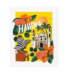 Rifle Paper Co. Havana Prints designed by Anna Bond World Calendar, Print Calendar, 2015 Calendar, Calendar Ideas, Inexpensive Wall Art, Rifle Paper Company, Cuba, It Goes On, Diy Frame
