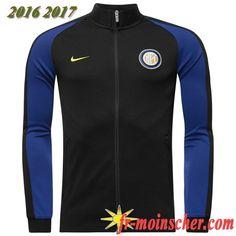 Le Nouveau:Veste de Inter Milan Bleu Marine 2016/2017 fr-moinscher