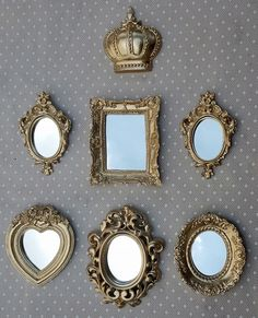 Best Entryway Mirror Decor Ideas & Designs For 2020 Large Framed Mirrors, Vintage Mirrors, Entryway Mirror, Home Decor Mirrors, Wall Mirror, Shabby Chic Mirror, Shabby Chic Frames, English Decor, Home Decor Colors