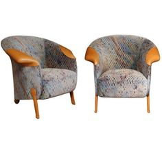 Pair of Post-modern Armchairs by Franz Wittman