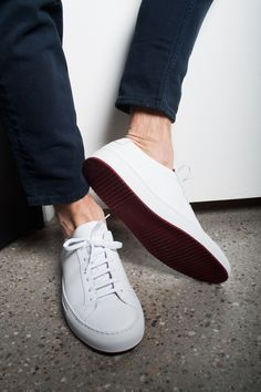 STEP OUT IN STYLE #CommonProjects #Sneaker #white #red #sotd #AcneStudios #look