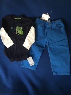NWT gymboree 18-24 Months Boy's Twp Piece Frog Outfit Set #Gymboree