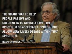 Viisaita sanoja Noam Chomskyltä.