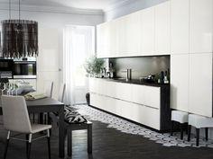 cuisine ikea metod ringhult noire et blanche