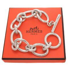Hermes Silver Large Link Bracelet 1970s image 2