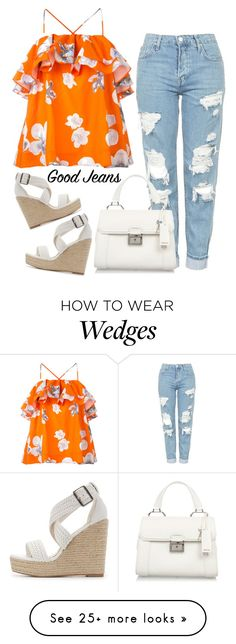 """Tear it Up: Distressed Denim"" by dachael on Polyvore featuring Topshop, MSGM, Charlotte Russe and Miu Miu"