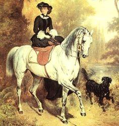 Sissi wearing black on a white horse APFxIrinaAlexandrovna 27Jan09 2