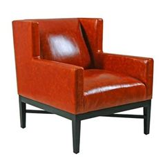 Add it to the list. Orange Leather, Tub Chair, Accent Chairs, Armchair, Larger, Red, Furniture, Beautiful Things, Home Decor