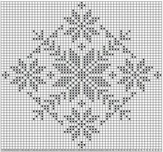 Filet Crochet, Crochet Cross, Crochet Diagram, Crochet Chart, Crochet Home, Crochet Doilies, Cross Stitch Borders, Cross Stitch Charts, Cross Stitch Designs