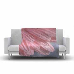 "Suzanne Harford ""Airy"" Floral Fleece Throw Blanket"
